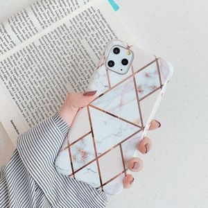 NEW iPhone 11/Pro/Max/XR Geometric Marble Case